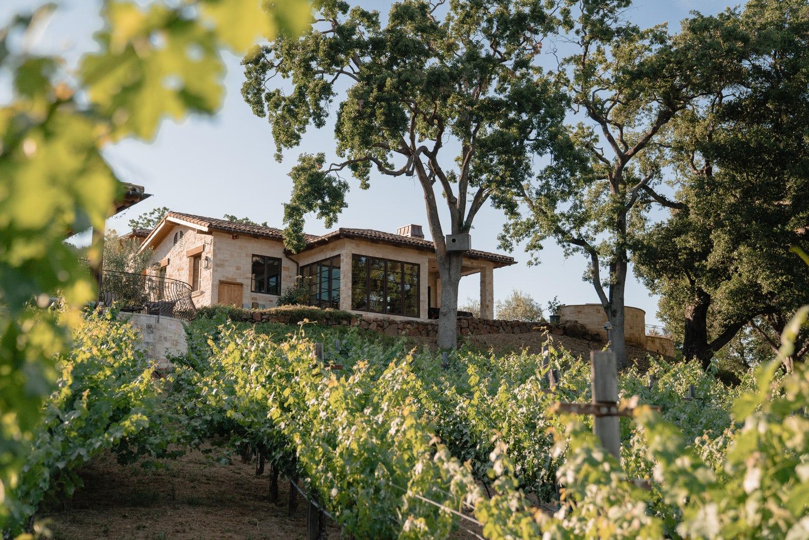 Residence from vineyard